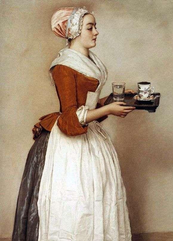 Описание картины Жана Этьена Лиотара «Шоколадница»