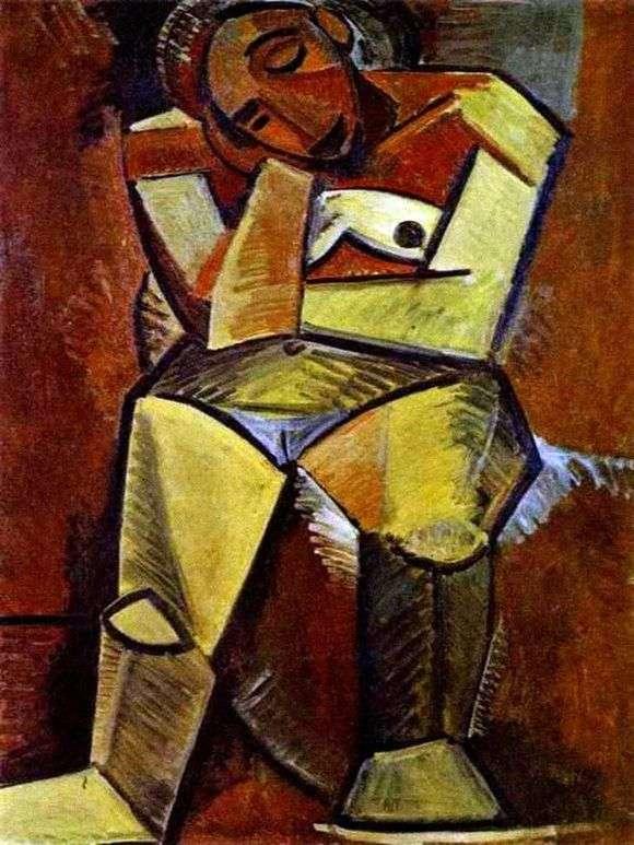 Описание картины Пабло Пикассо «Сидящая женщина»