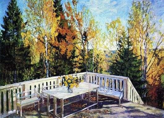Описание картины Станислава Жуковского «Осень. Веранда»