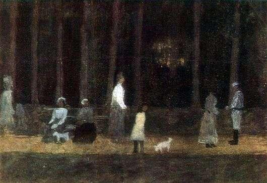Описание картины Николая Крымова «В парке»