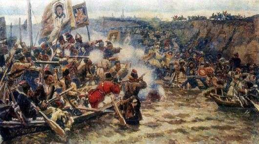 Описание картины Василия Сурикова «Покорение Сибири Ермаком»