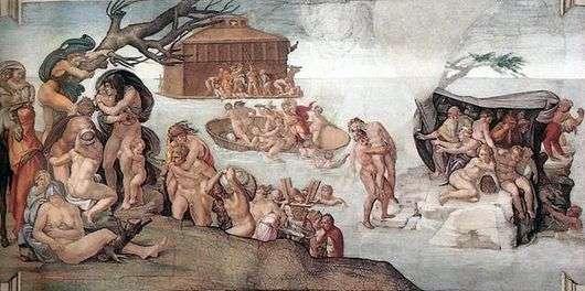 Описание картины Микеланджело Буонарроти Потоп