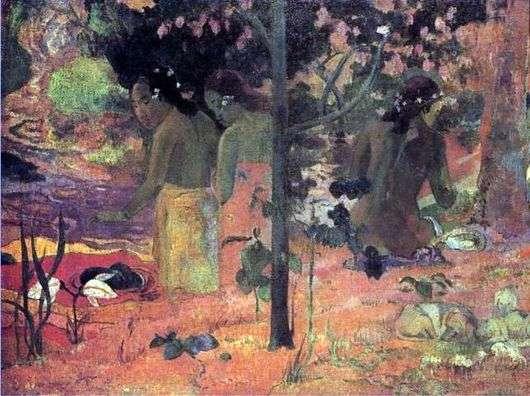 Описание картины Поля Гогена «Купальщицы»