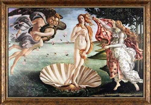 Описание картины Сандро Боттичелли «Рождение Венеры»