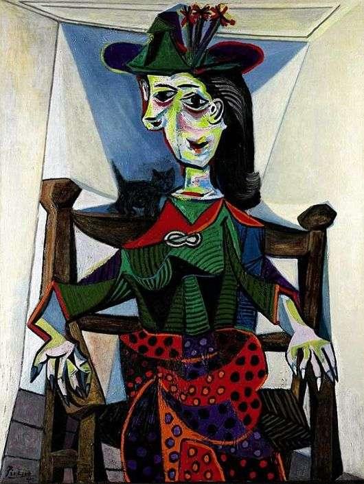 Описание картины Пабло Пикассо «Дора Маар с кошкой»