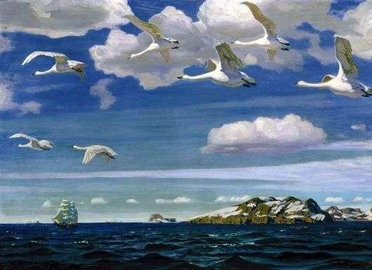 Описание картины Аркадия Рылова «В голубом просторе»