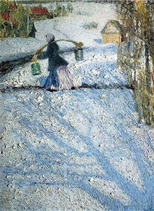 Описание картины Игоря Грабаря «Мартовский снег» (Март)