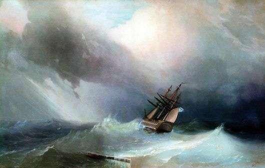 Описание картины Ивана Айвазовского «Буря»