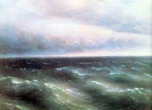 Описание картины Ивана Айвазовского «Черное море»