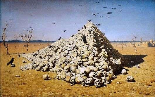 Описание картины Василия Верещагина «Апофеоз войны»