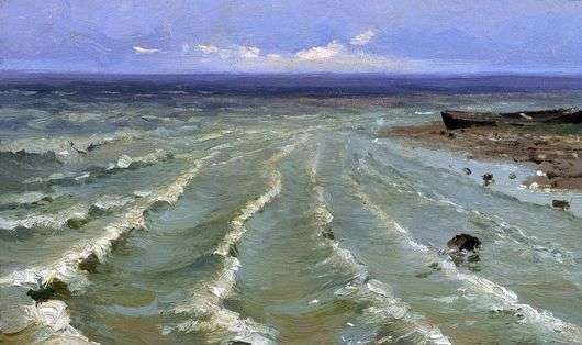 Описание картины Ефима Волкова «Море»