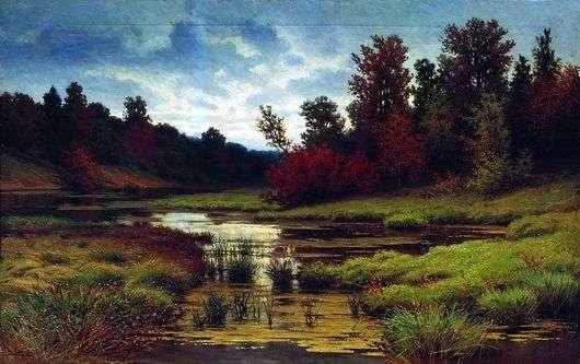 Описание картины Ефима Волкова «Осень»