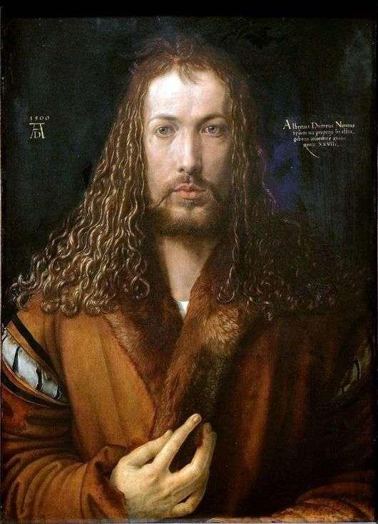 Описание картины Альбрехта Дюрера «Автопортрет в образе Христа»