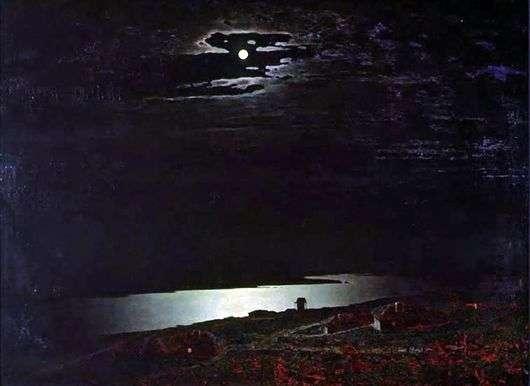 Описание картины Архипа Куинджи «Лунная ночь на Днепре»