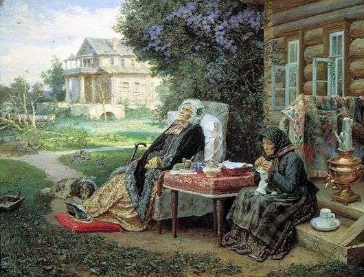 Описание картины Василия Максимова «Все в прошлом»