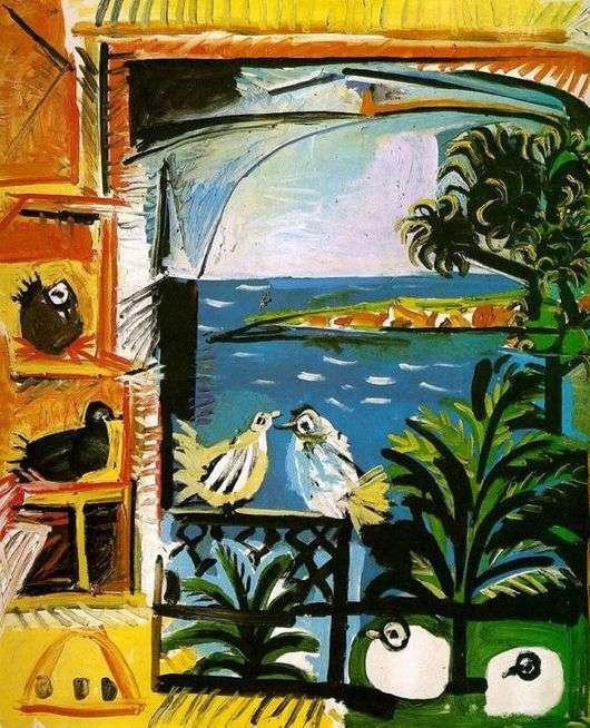 Описание картины Пабло Пикассо «Голуби»