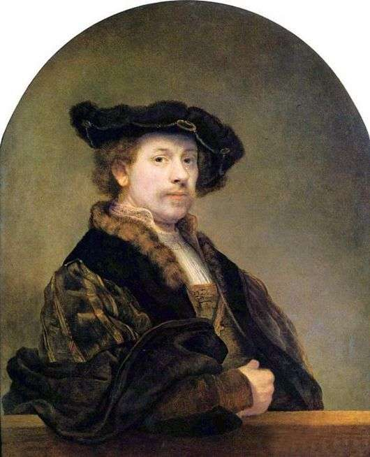 Описание картины Рембрандта «Автопортрет»