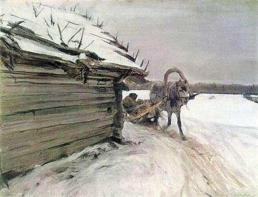 Описание картины Валентина Серова «Зимой»