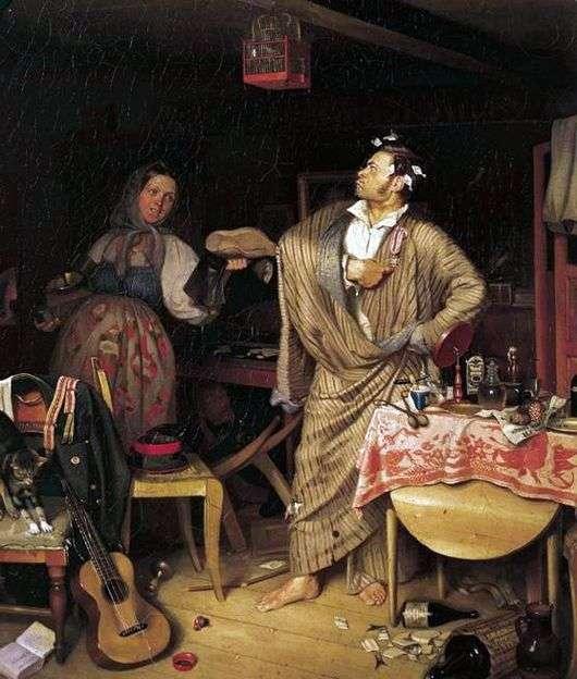 Описание картины Павла Федотова «Свежий кавалер»