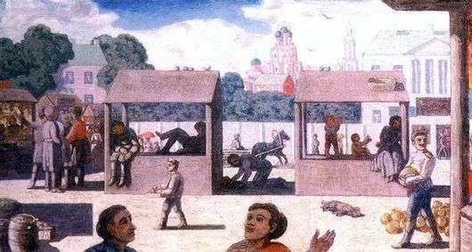 Описание картины Николая Крымова «Площадь»