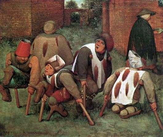 Описание картины Питера Брейгеля «Калеки»