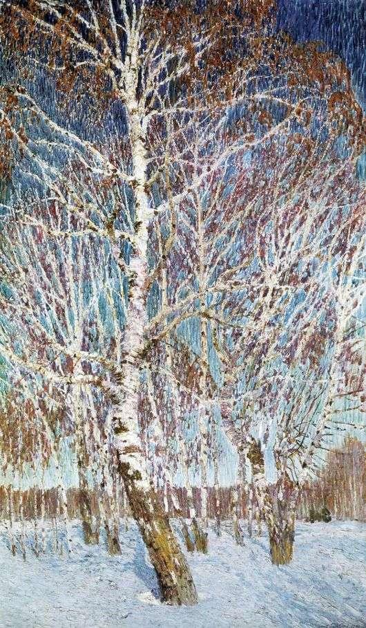 Описание картины Игоря Грабаря «Февральская лазурь»