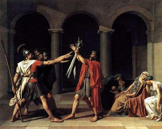Описание картины Жан Луи Давида «Клятва Горациев»