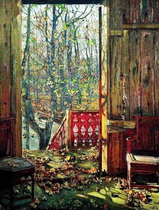 Описание картины Исаака Бродского «Опавшие листья»