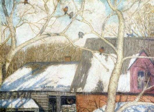 Описание картины Николая Крымова «К весне»
