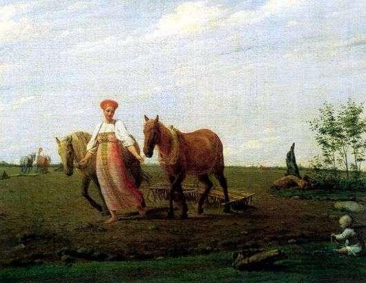 Описание картины Алексея Венецианова «На пашне»