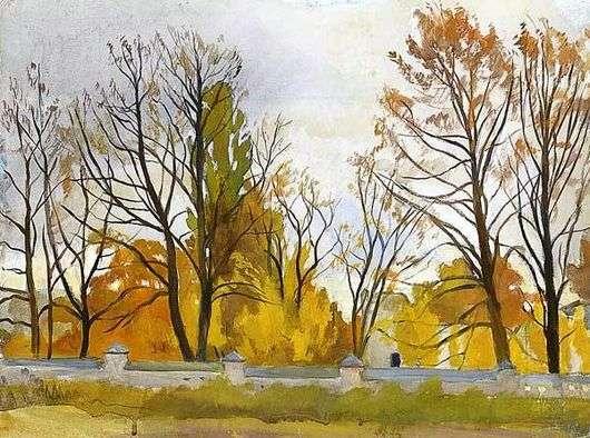 Описание картины Зинаиды Серебряковой «Осенний парк»