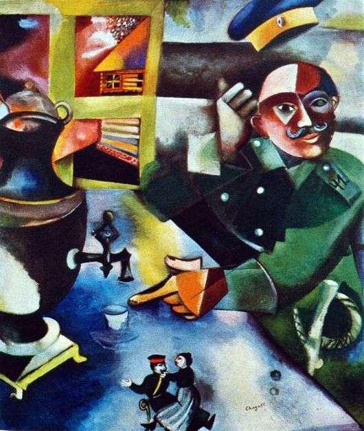 Описание картины Марка Шагала «Солдат пьёт»