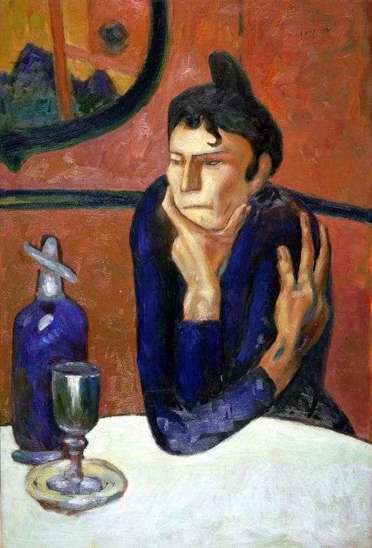 Описание картины Пабло Пикассо «Любительница абсента»