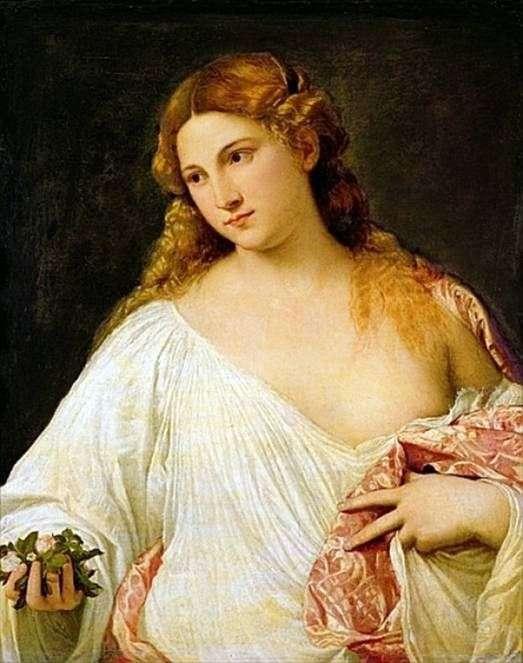 Описание картины Тициана Вечеллио «Флора»