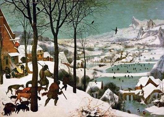 Описание картины Питера Брейгеля «Охотники на снегу»