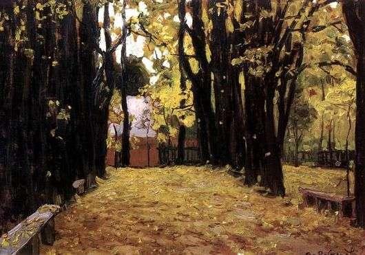 Описание картины Виктора Васнецова «Осень»