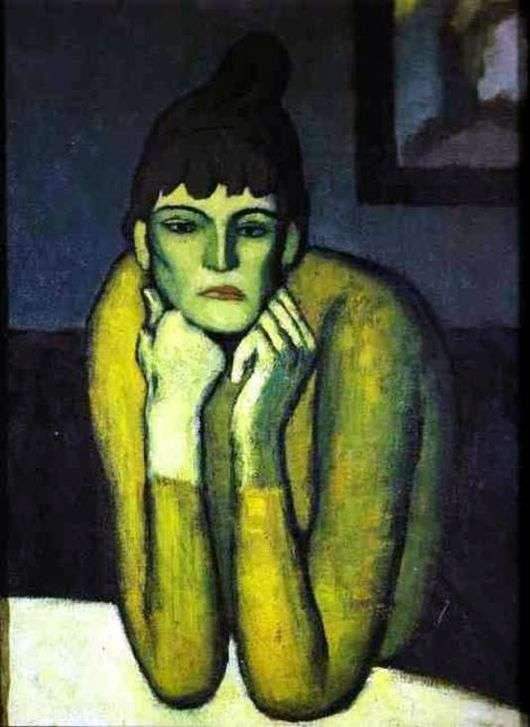 Описание картины Пабло Пикассо «Женщина с шиньоном»