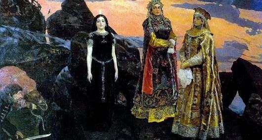 Описание картины Виктора Васнецова «Три царевны подземного царства»