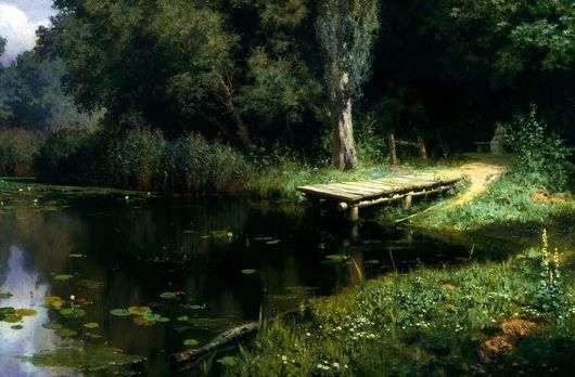 Описание картины Василия Поленова «Заросший пруд»