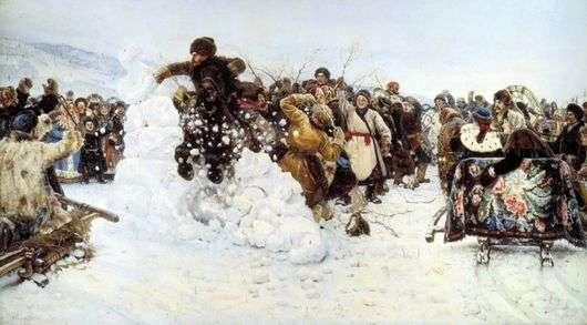 Описание картины Василия Сурикова «Взятие снежного городка»