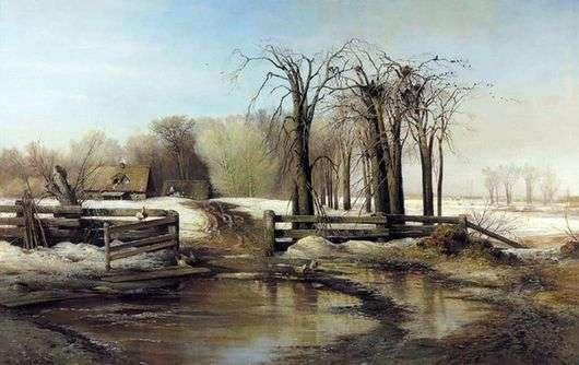 Описание картины Алексея Саврасова «Весенний день»