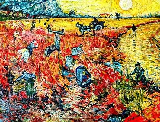 Описание картины Винсента Ван Гога «Красные виноградники»