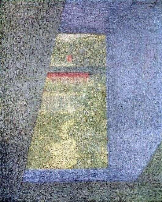 Описание картины Николая Крымова «Из окна»