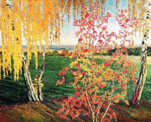 Описание картины Игоря Грабаря «Рябинка»