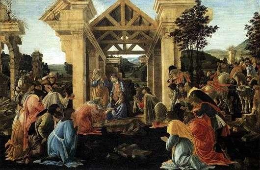 Описание картины Сандро Боттичелли «Поклонение Волхвов»
