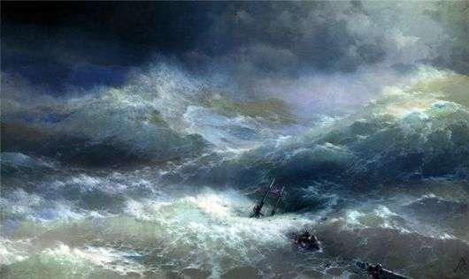 Описание картины Ивана Айвазовского «Среди волн»