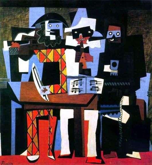Описание картины Пабло Пикассо «Три музыканта»