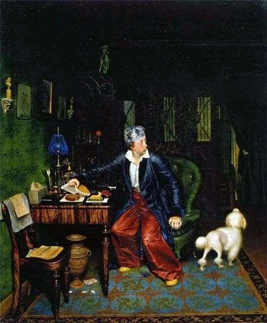 Описание картины Павла Федотова «Завтрак на столе» (Завтрак аристократа)