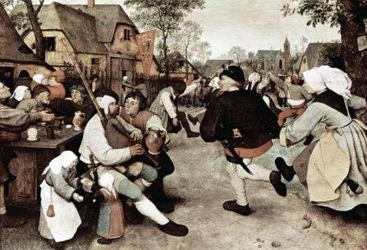 Описание картины Питера Брейгеля «Крестьянский танец»