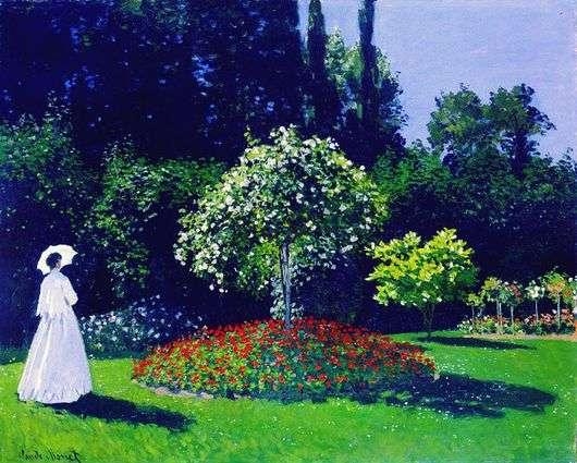 Описание картины Клода Моне «Дама в саду»